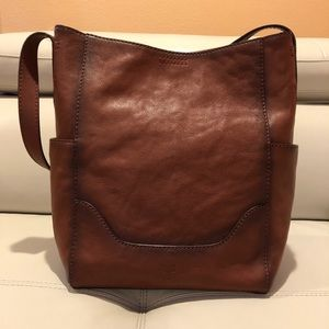 Frye Side Pocket Leather Hobo